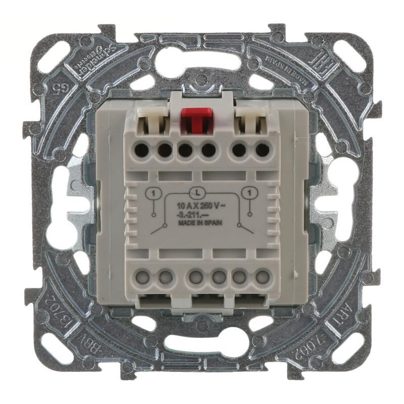 Выключатель встраиваемый Schneider Electric Unica 2 клавиши, цвет бежевый