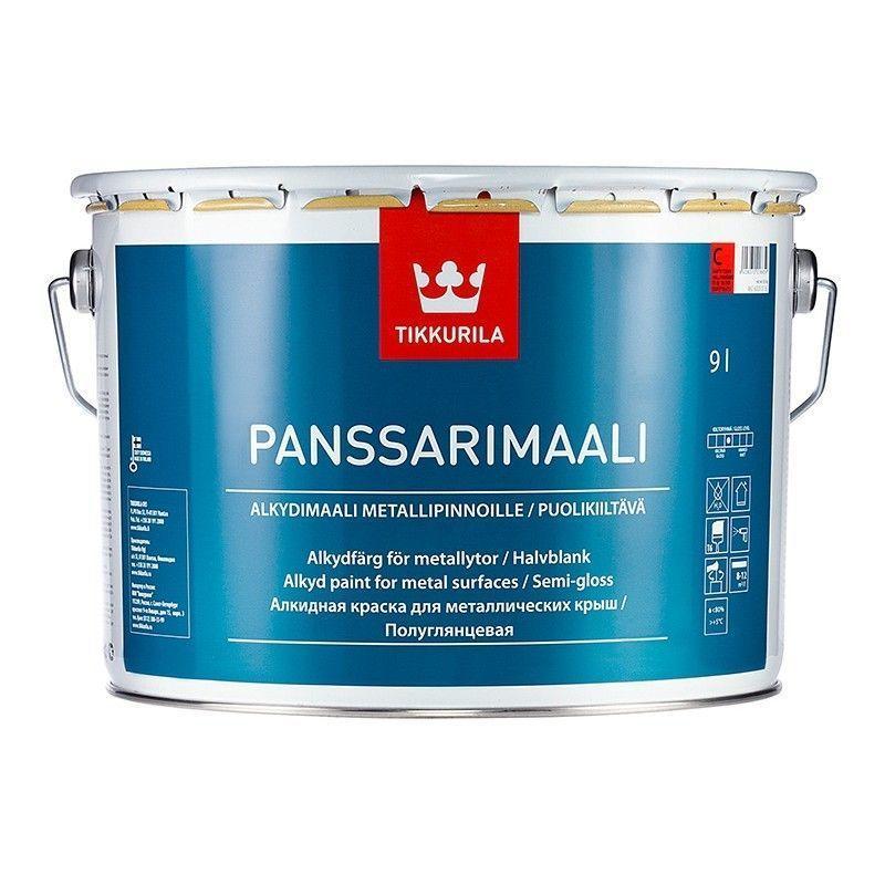 Краска для металлических крыш Panssarimaali, 9л