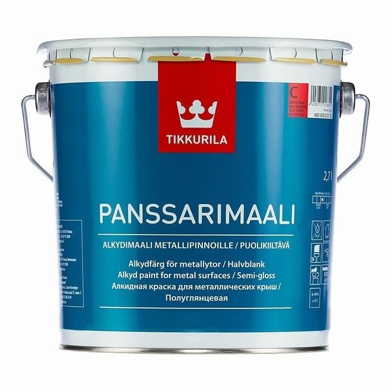 Краска для металлических крыш Panssarimaali, 2,7л