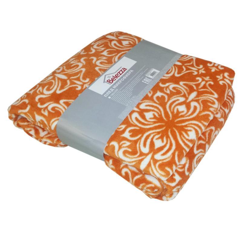 Плед «Dixon» 180х200 см микрофибра цвет оранжевый
