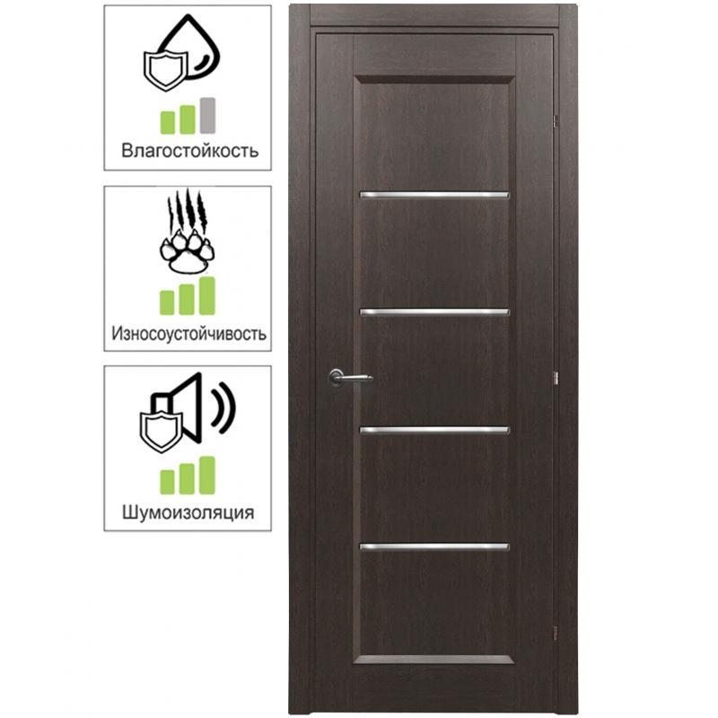 Дверь межкомнатная остеклённая с замком в комплекте Candler 80x200 см цвет чёрный дуб