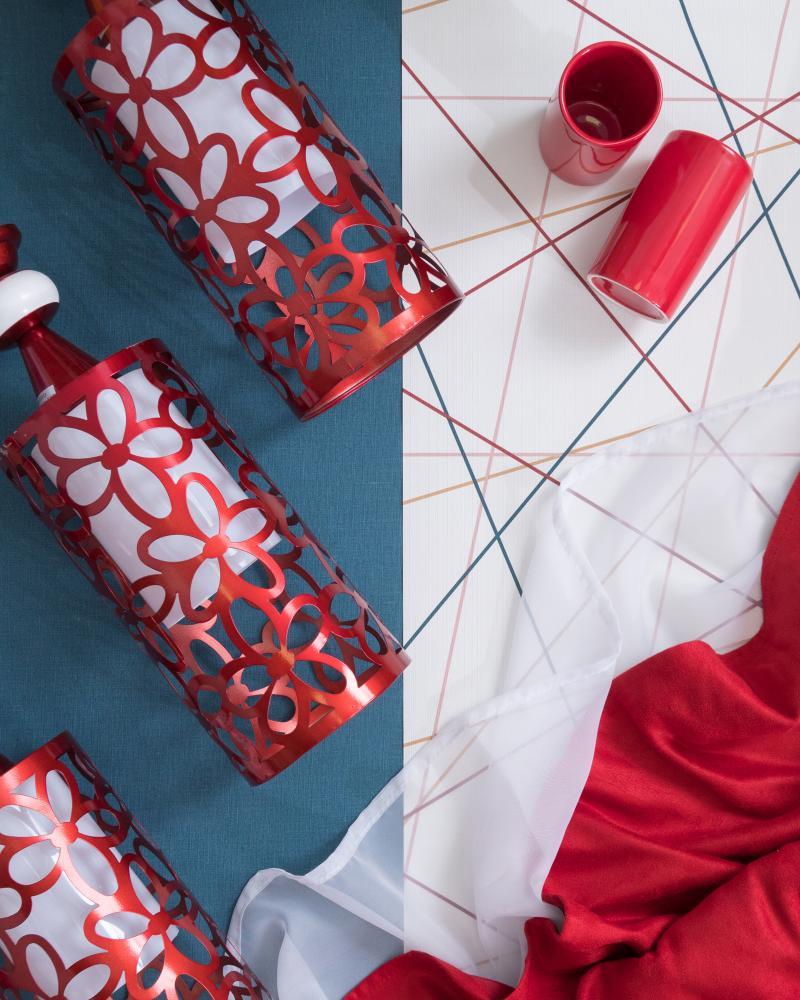 Стакан для зубных щёток настольный «Legend» керамика цвет красный