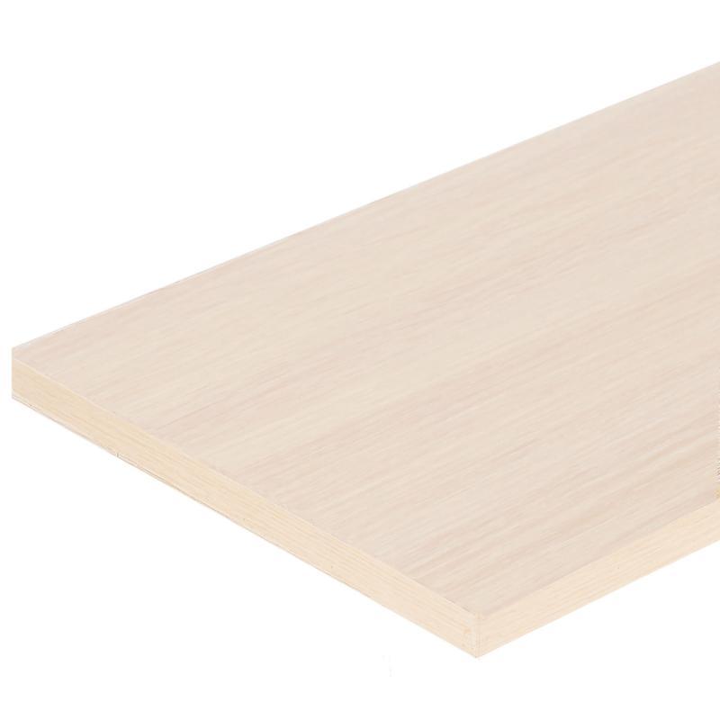 Деталь мебельная 2700х100х16 мм ЛДСП, цвет дуб беленый, кромка с длинных сторон