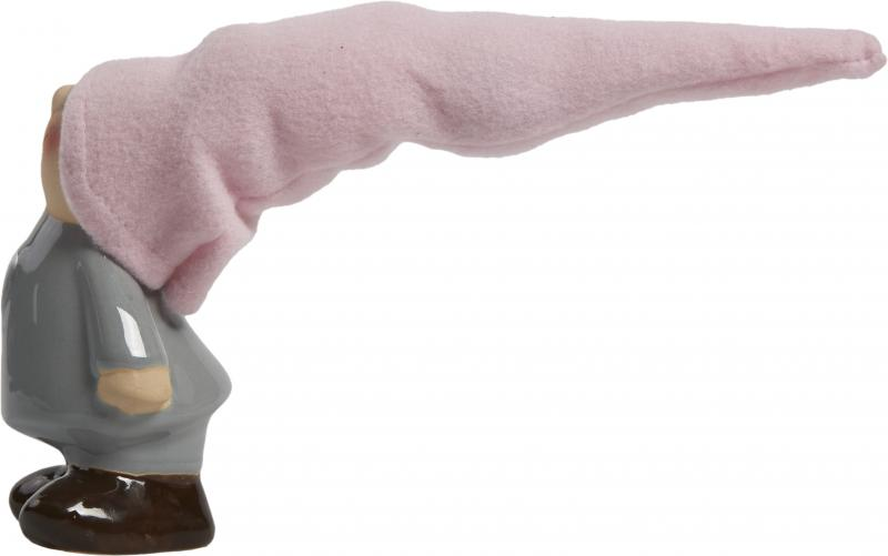 Фигурка «Гномик в розовом колпаке» 26 см