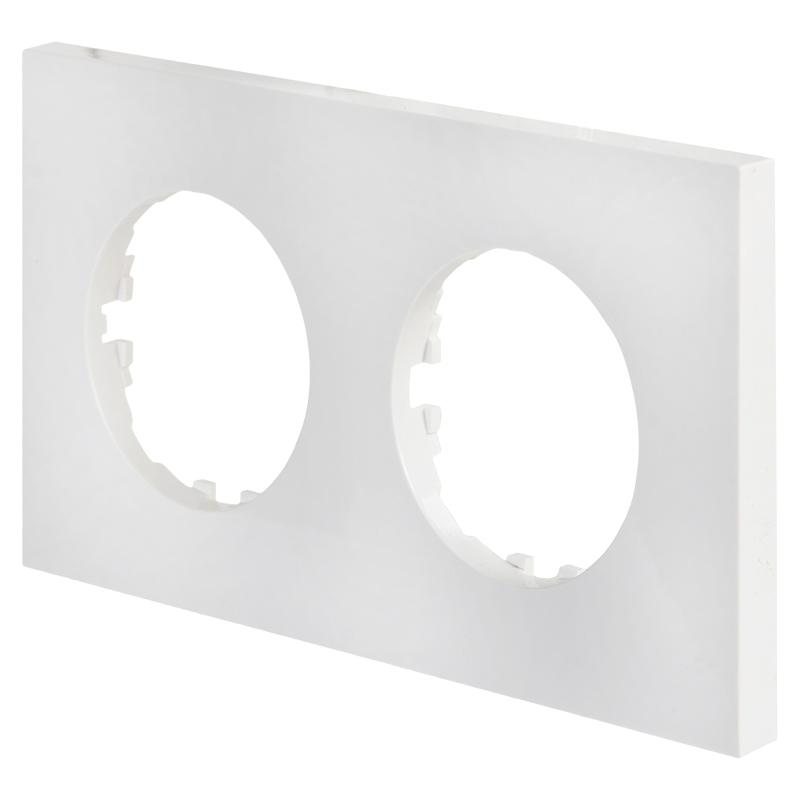 Рамка LK Vintage-Quadro 2 поста квадратная, белая