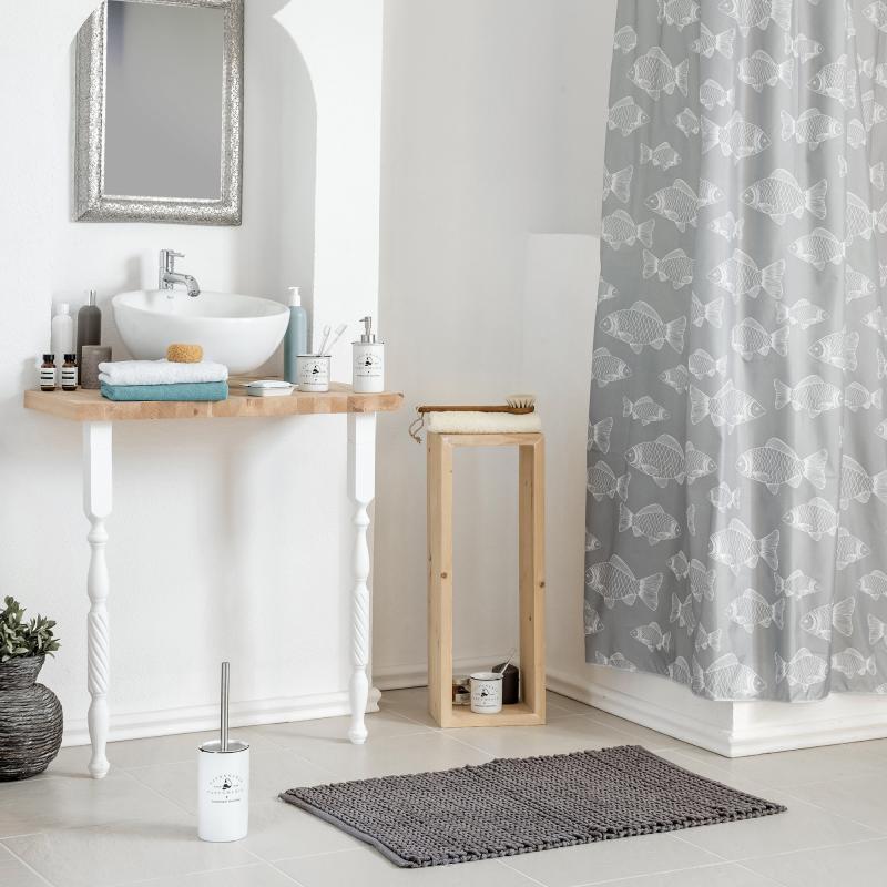Коврик для ванной комнаты «Coleta» 60х90 см цвет серый