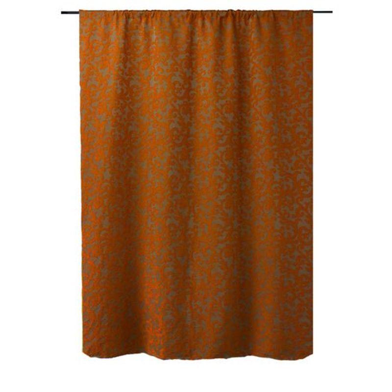Штора на ленте «Скалея» 200х260 см цвет оранжевый