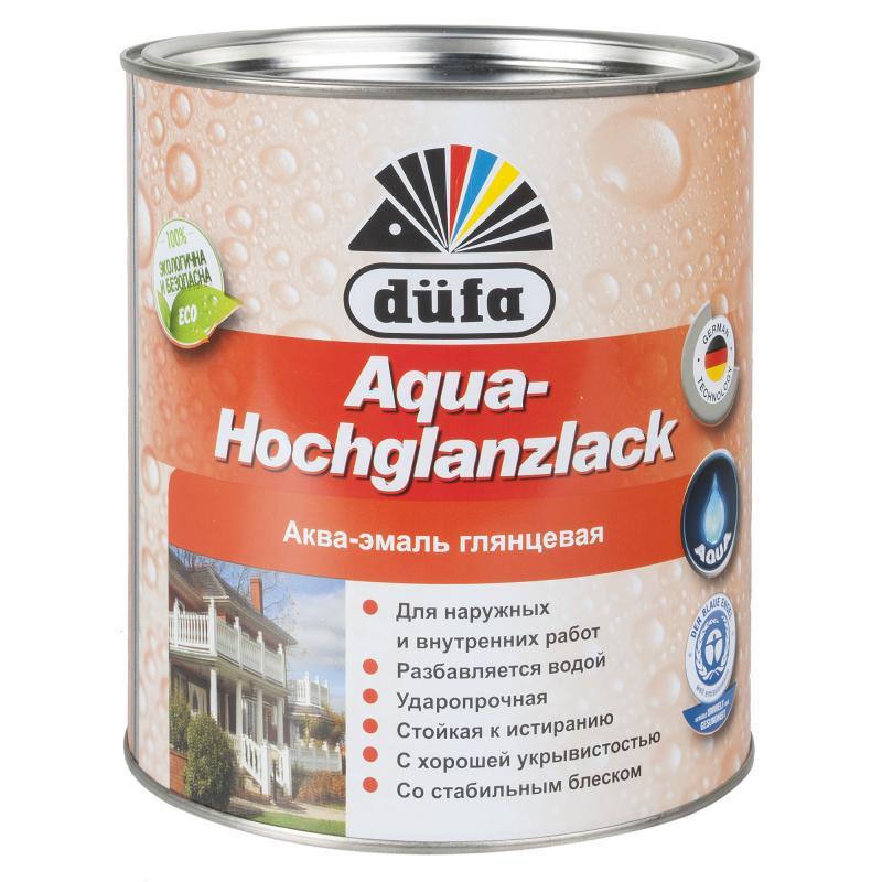 Эмаль Dufa Aqua-Hochglanzlack цвет белый 2.5 л