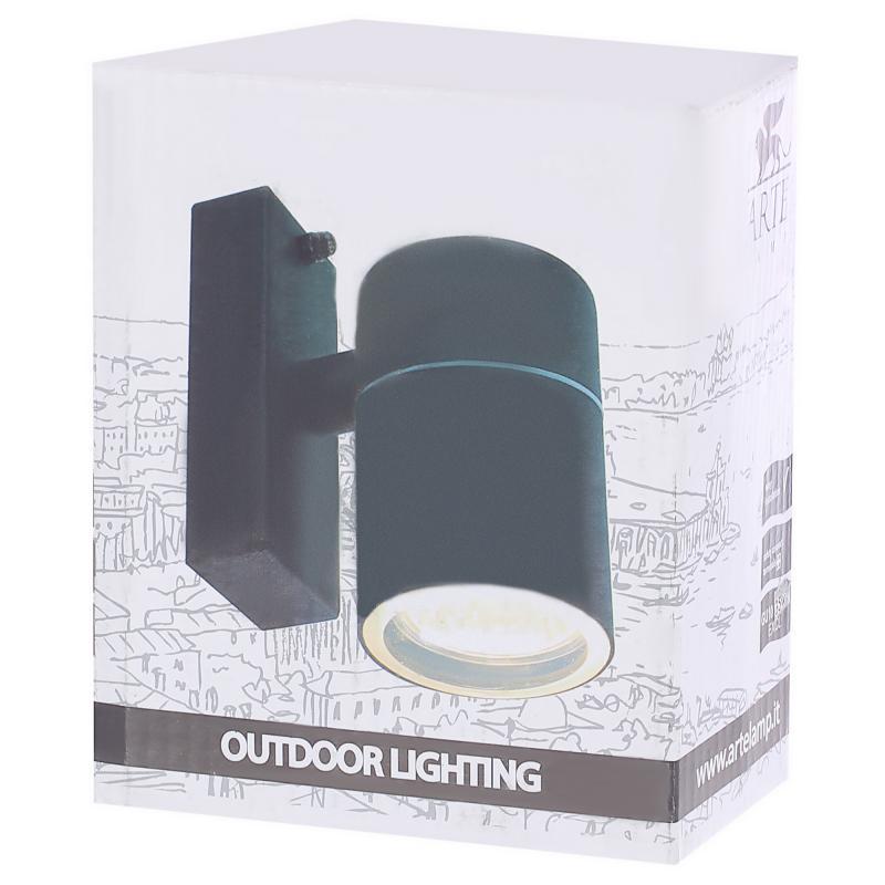 Бра уличное «Mistero» 1хGU10х35 Вт IP44 цвет чёрный металлик