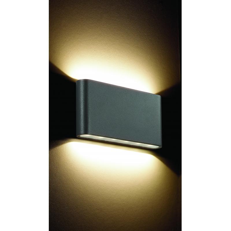 Светильник фасадный светодиодный уличный Kaimas 357422 IP54, прямоугольный, цвет тёмно-серый