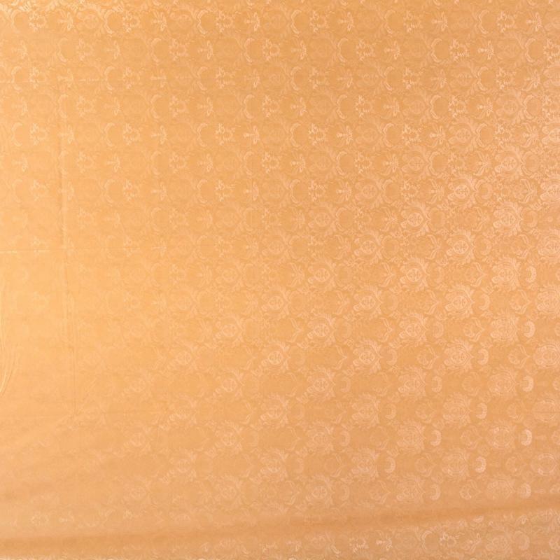 Скатерть «Вензель» 220х135 см шёлк цвет бежевый
