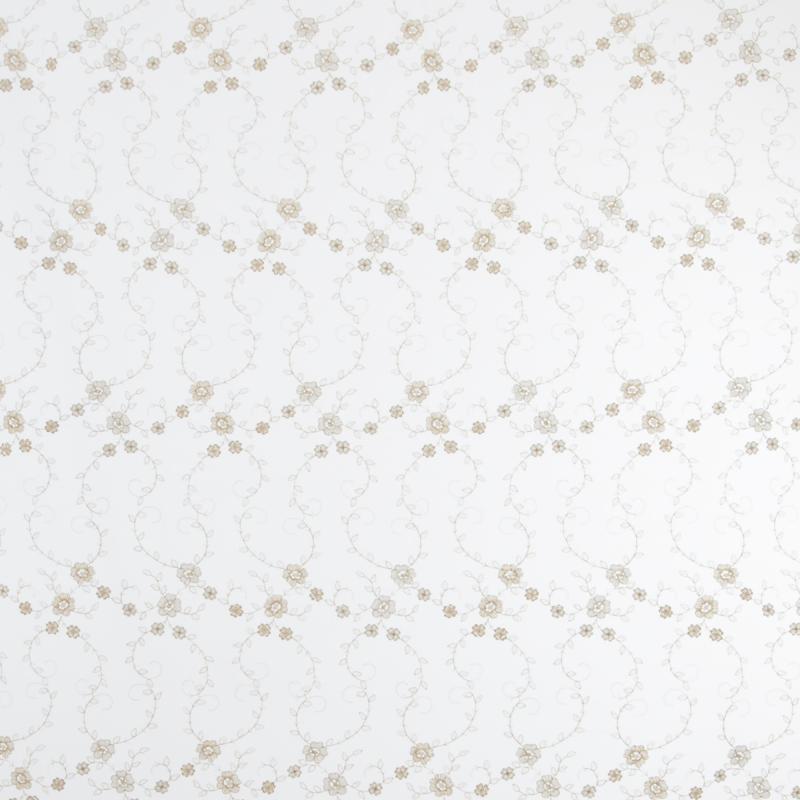 Тюль с вышивкой на сетке «Премиум» 1 п/м 290 см цвет золотой