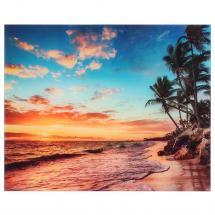 Картина на стекле «Закат на пляже» 40х50 см
