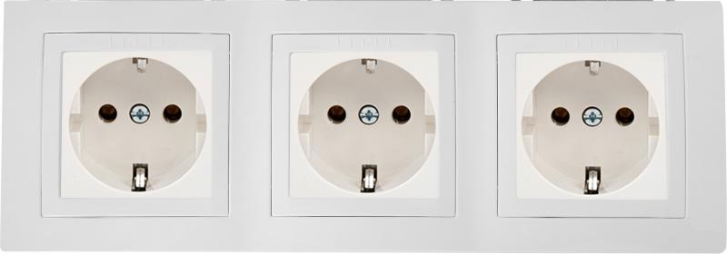 Рамка для розеток и выключателей Schneider Electric Unica 3 поста, цвет белый