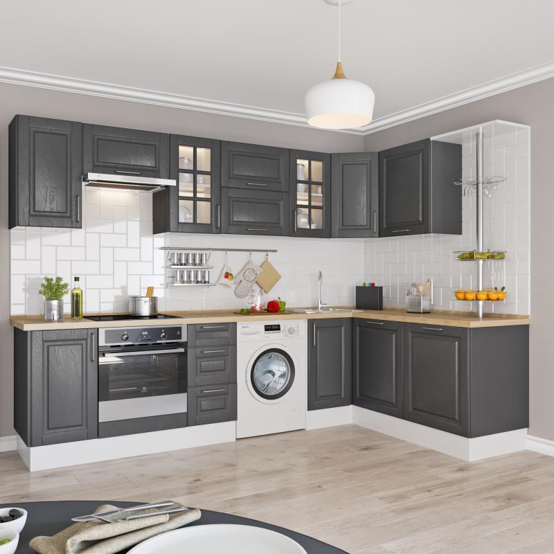 Угол для шкафа Delinia «Леда серая» 4x70 см, МДФ, цвет серый