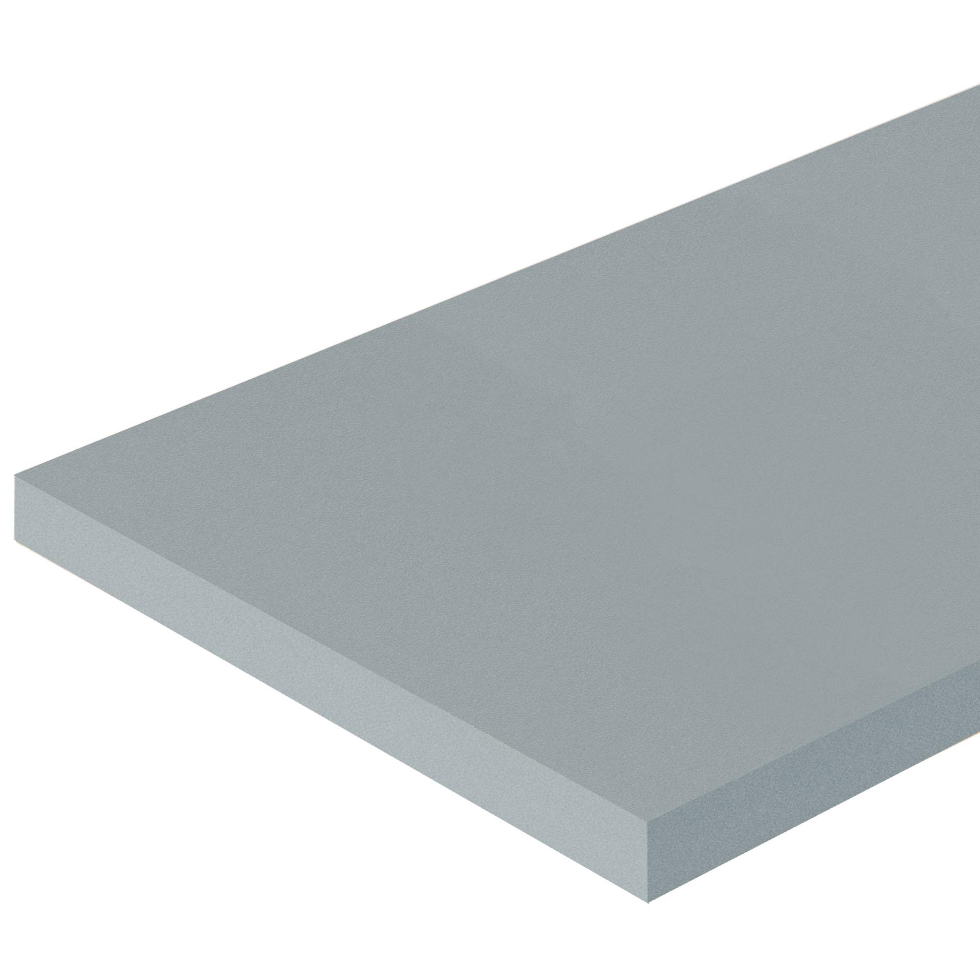 Деталь мебельная 2700х100х16 мм ЛДСП цвет серебристый