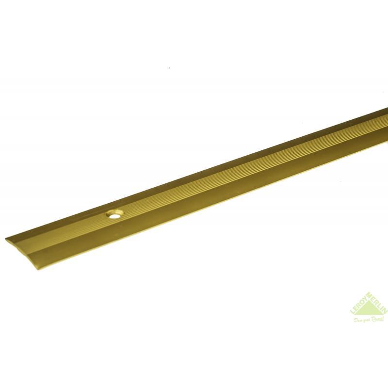 Порог алюминиевый Стык-163 золото, 1000x28 мм