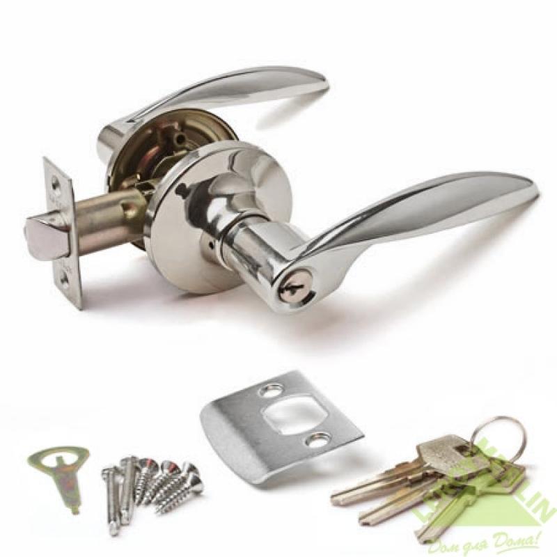 Ручка-защёлка межкомнатная Apecs 8020-01-CR, латунь/цинк, цвет хром, 2 шт.