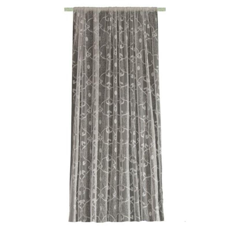 Тюль на ленте «Гардона» 300х260 см цвет белый