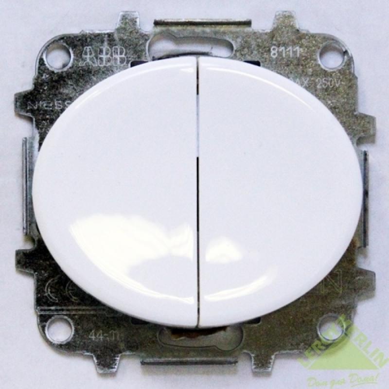 Выключатель Tacto 2 клавиши, белый