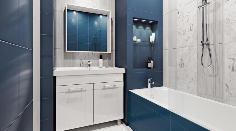 Зеркало с подсветкой «Мокка» 100 см, цвет белый глянец