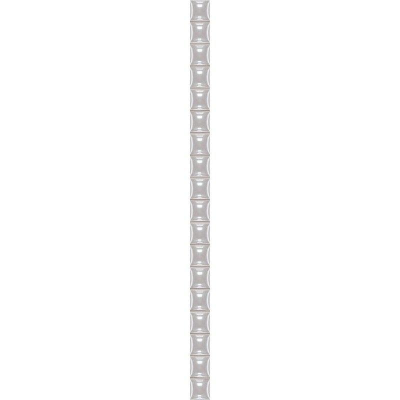 Бордюр «Разрезной люстрированный» 1.3х25 см цвет белый