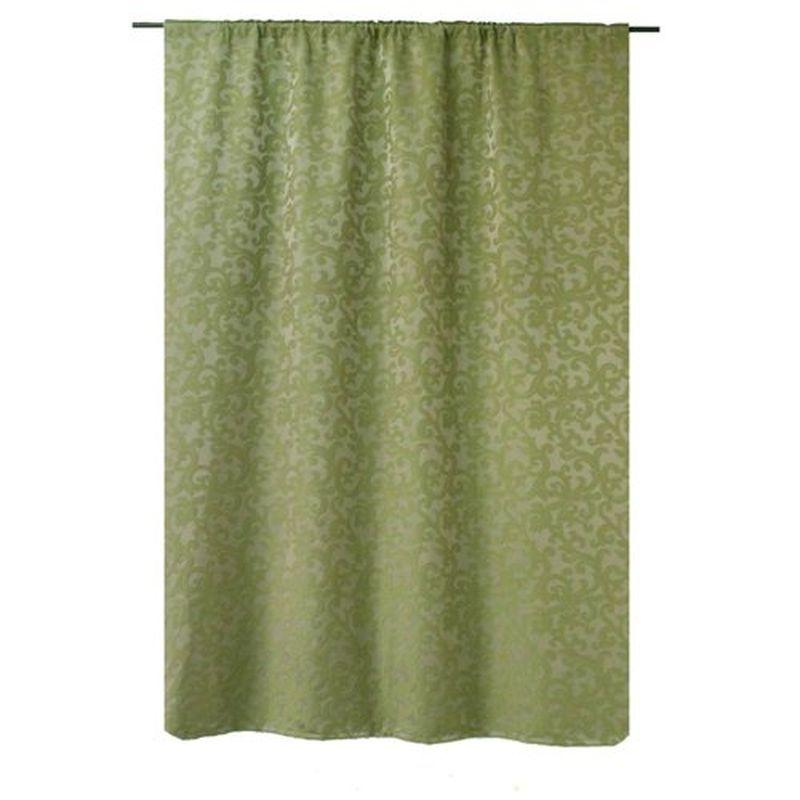 Штора на ленте «Скалея» 200х260 см цвет зелёный