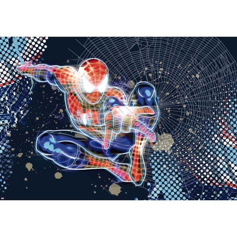 Фотопанно бумажное «Spider-Man Neon» 127х184 см