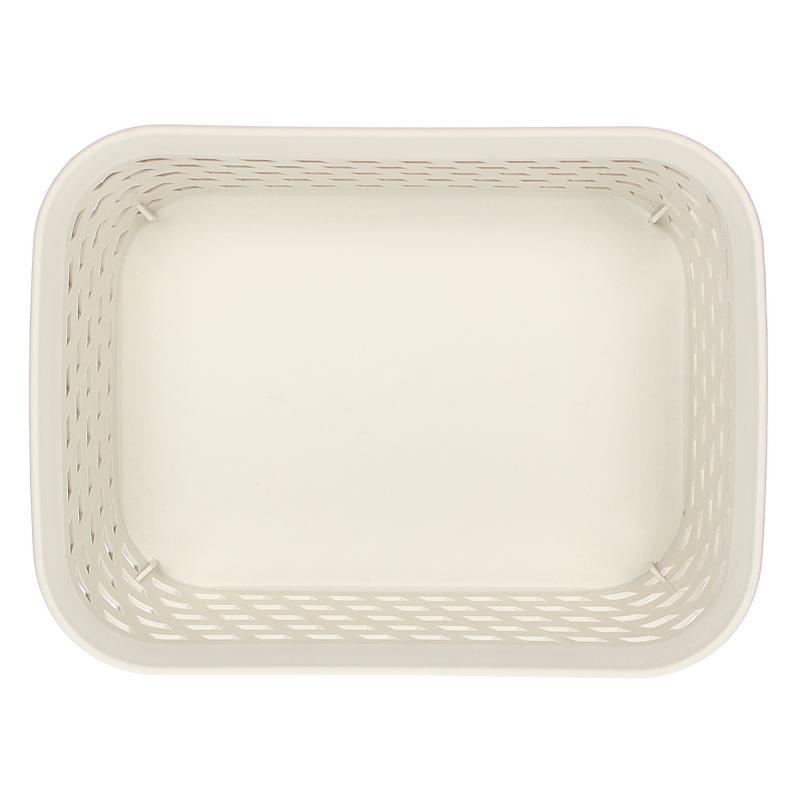 Корзина для хранения «Ротанг», 1 л, 18.5х14х7 см, цвет белый
