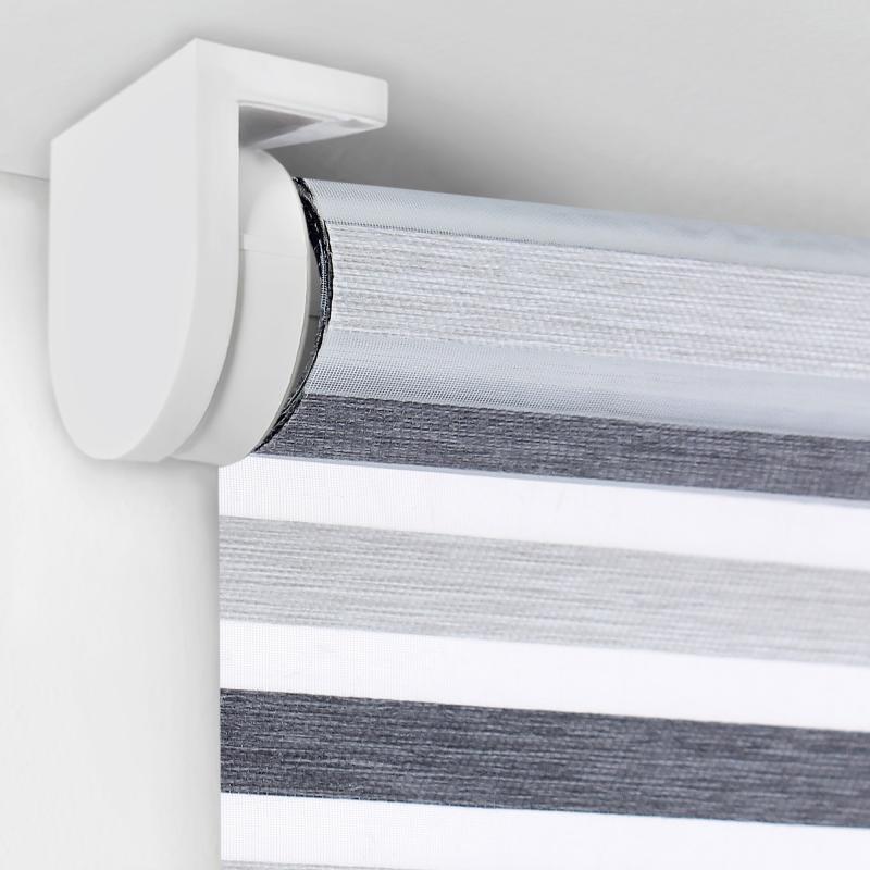 Штора рулонная, 55х160 см, цвет серый