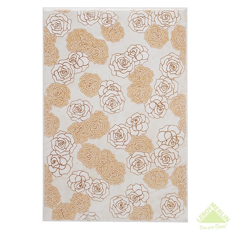 Декор Золотая Роза, цвет бежевый, 20x30 см