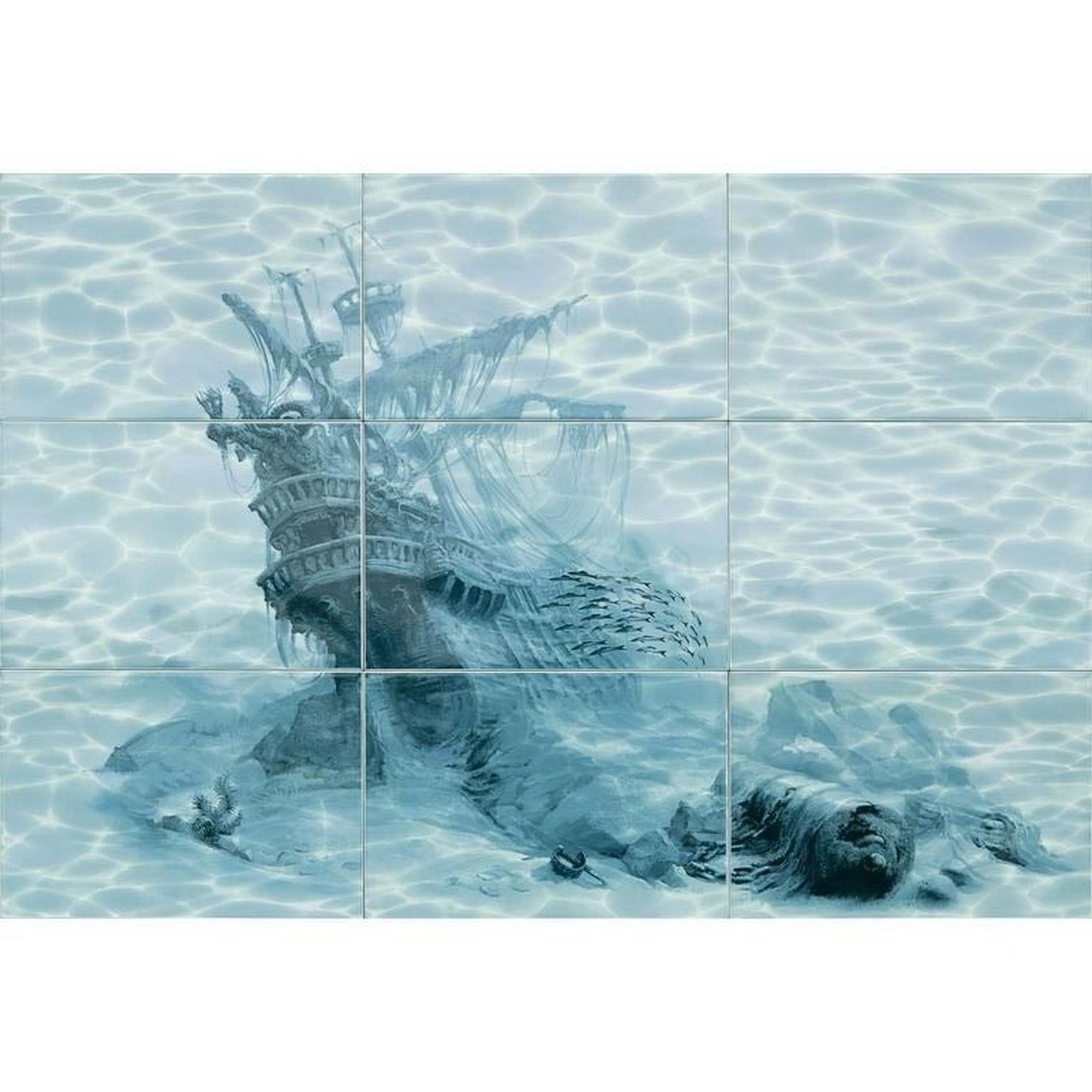 Панно «Лагуна Корабль» 74.7х109.2 см цвет голубой