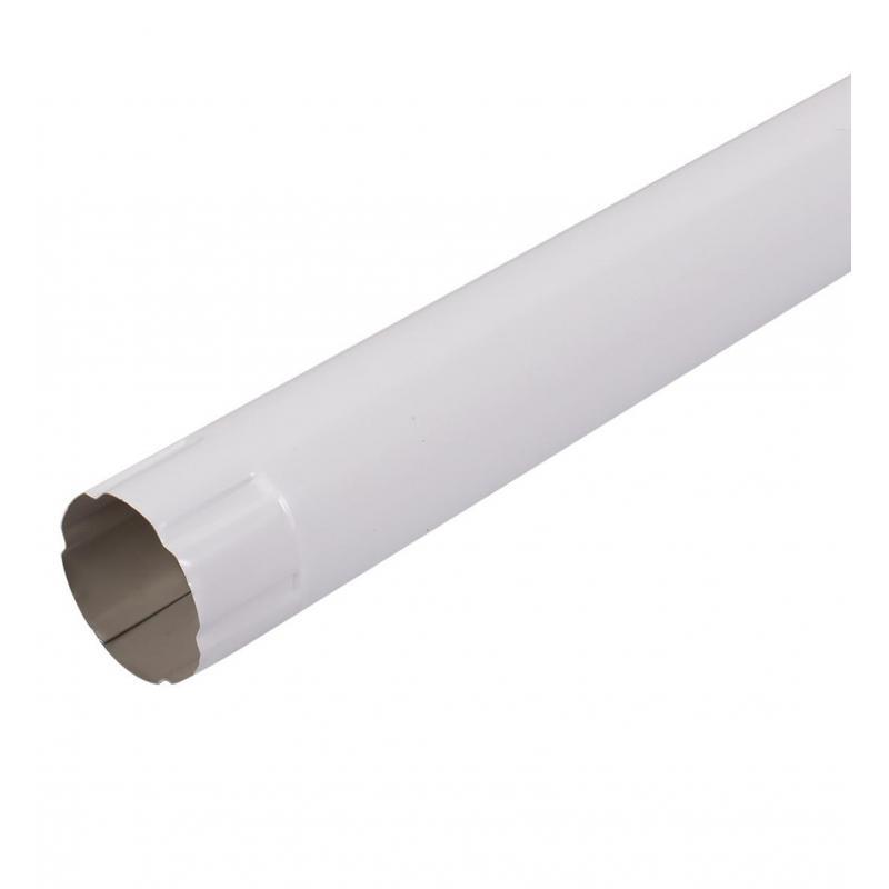 Соединитель трубы 1 м цвет белый