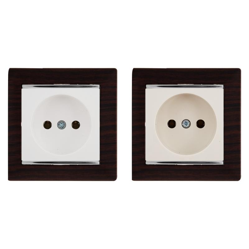 Рамка для розеток и выключателей Legrand Valena 1 пост, цвет тёмное дерево/серебряный штрих