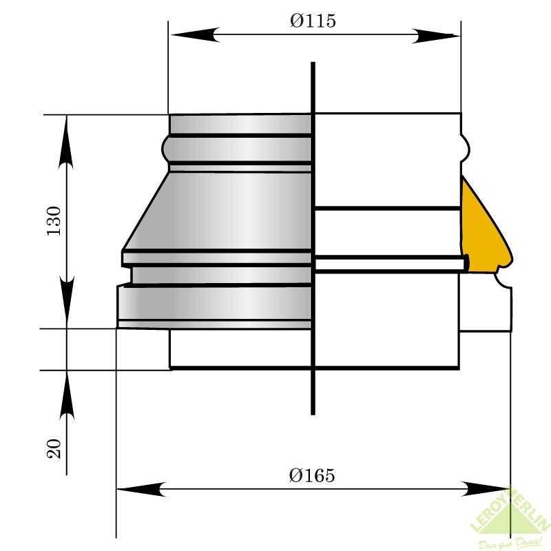 Насадка верхняя Мета, 165 мм