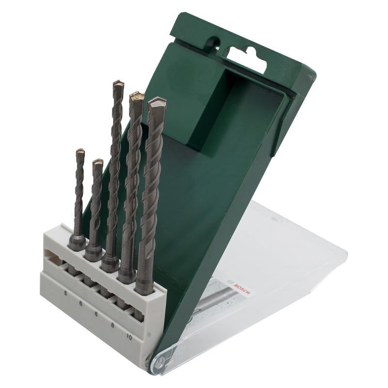 Набор буров по бетону SDS-plus 5 шт. Bosch 2609255541, 5-10 мм