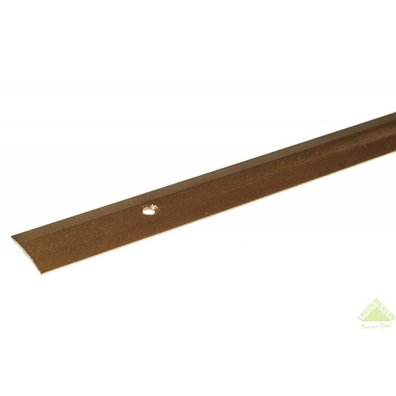 Порог алюминиевый Стык-163 медь, 1000x28 мм