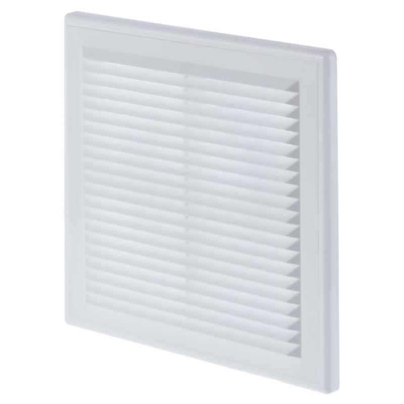 Решетка вентиляционная Вентс МВ 150 ВДс , 204x204 мм, цвет белый