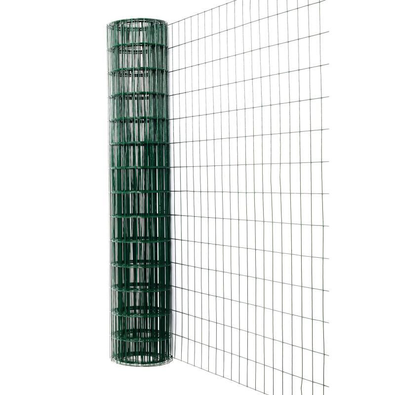 Сетка сварная, материал ПВХ, размер ячейки 75х100 мм, размер сетки 15х1.8 м