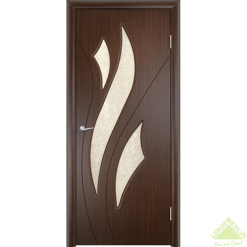 Дверное полотно остеклённое Латина Дельта 90x200 см, ПВХ, венге