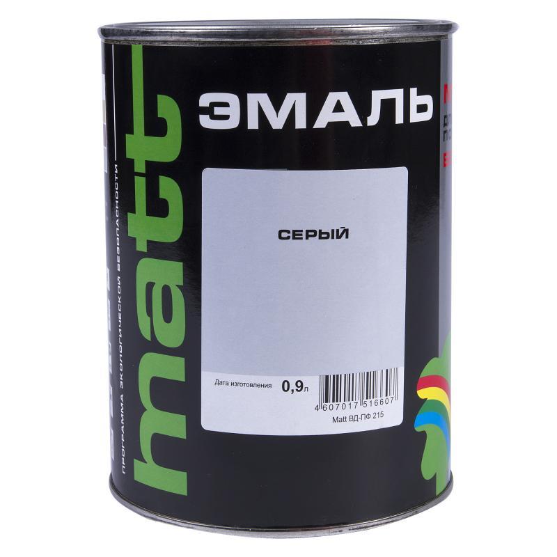 Эмаль серая ВД-ПФ 215 МАТТ 0.9 л