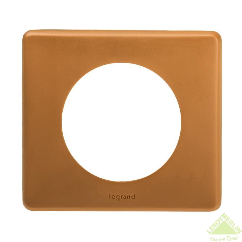 Рамка для розеток и выключателей Celiane, 1 пост, цвет корица