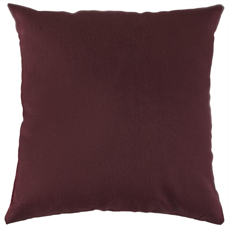 Подушка декоративная 40х40 см цвет бордовый