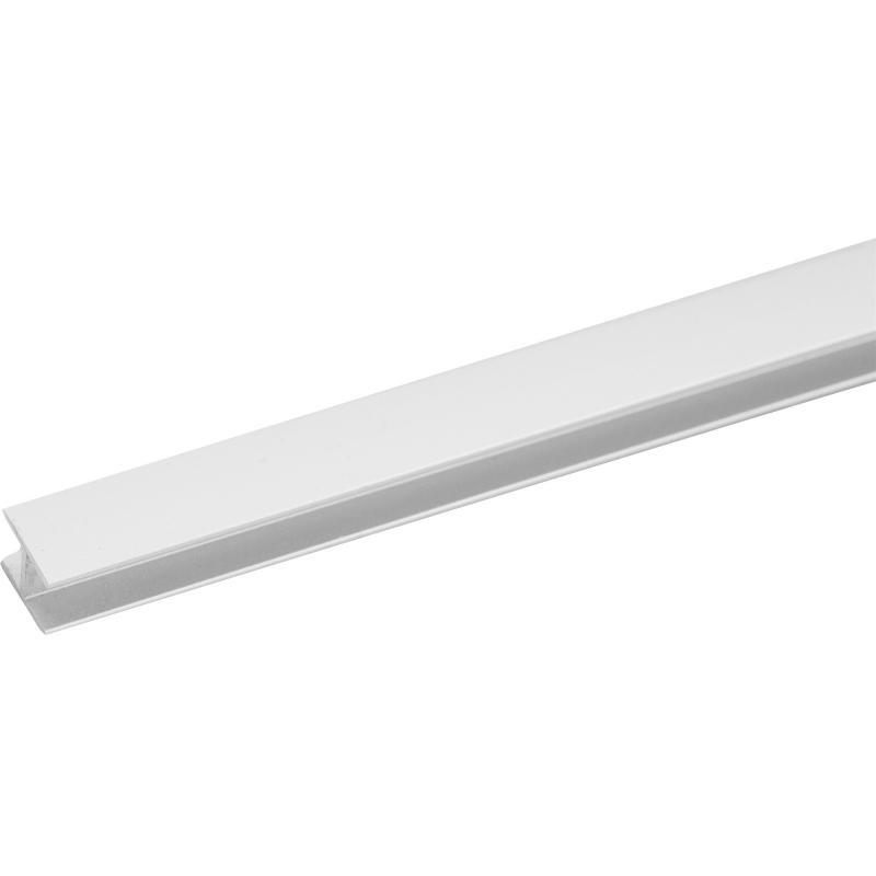 Планка для стеновой панели H-образная 60х1х0.4 см, алюминий