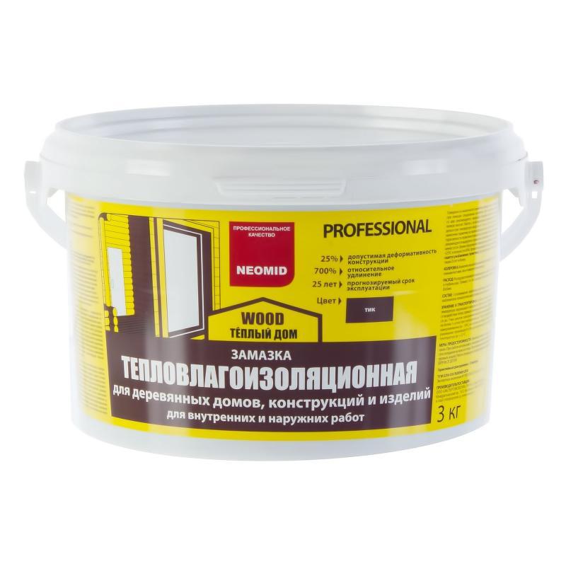 Замазка для дерева Neomid цвета тик 3 кг