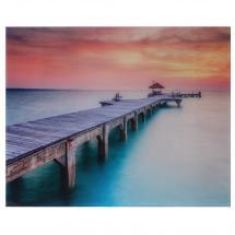 Картина на стекле «Закат на пристани» 40х50 см