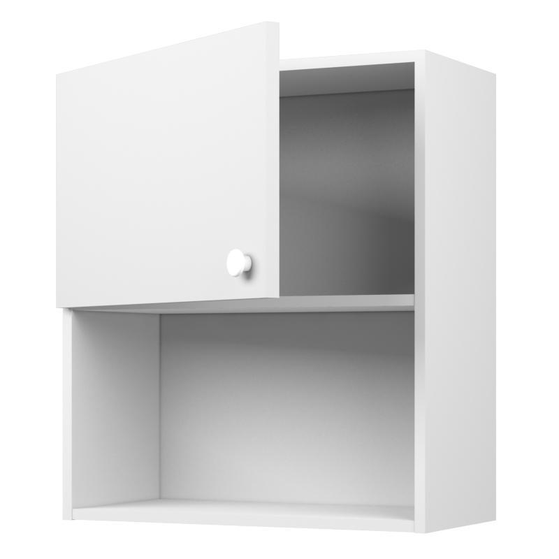 Шкаф навесной «Бьянка Ал» с фасадом 60 см, цвет белый