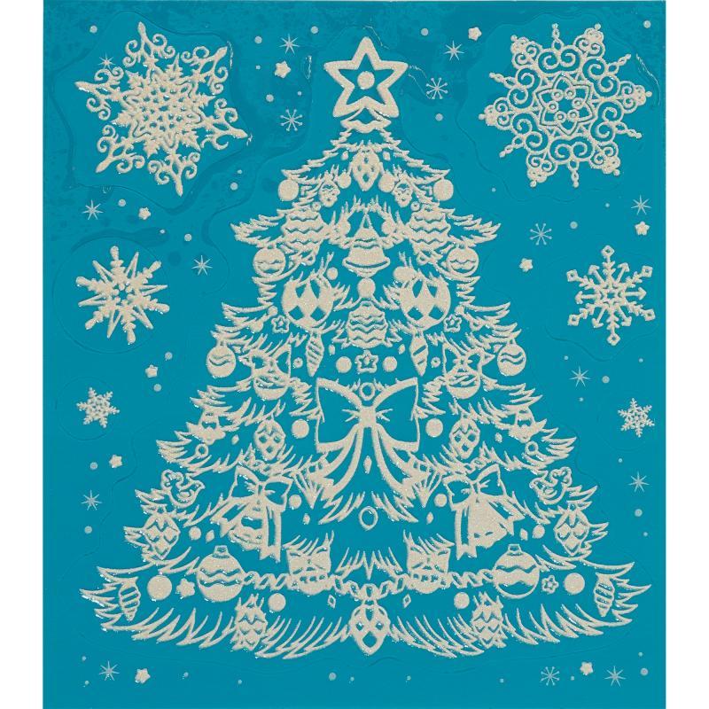 Украшение новогоднее оконное «Ёлочка с бантиком»