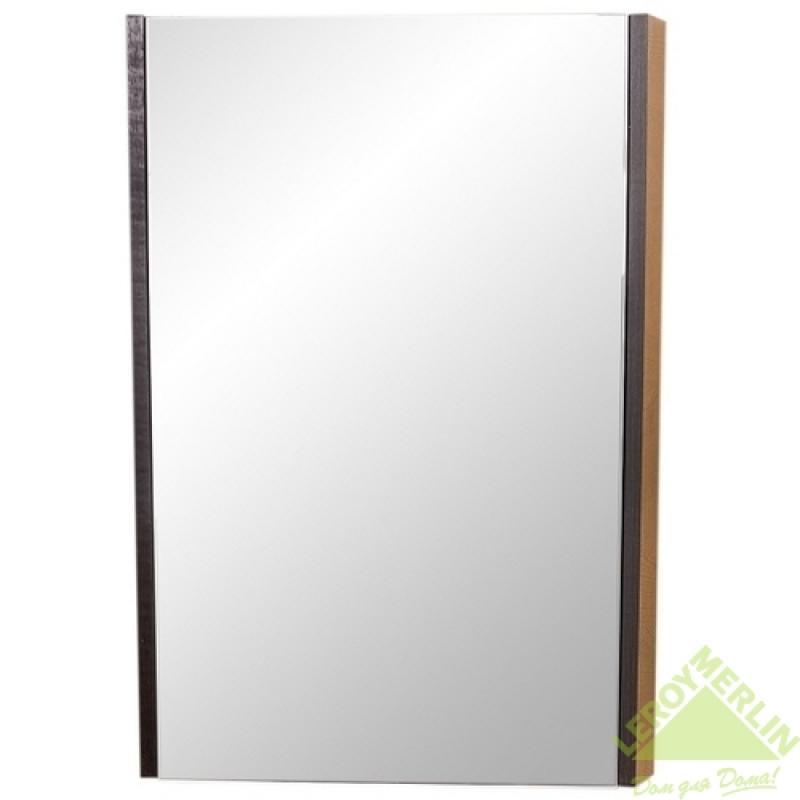 Шкаф зеркальный Юнап-Мебель «Санторини», 50 см, ЛДСП/МДФ, цвет венге