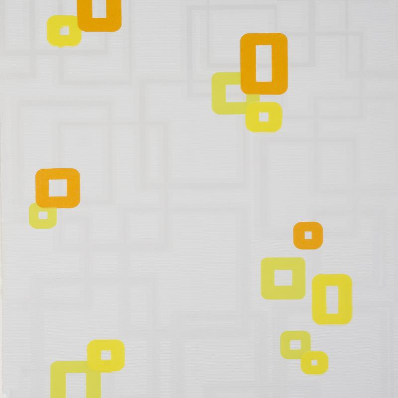 Обои виниловые Бостон 0.53х10 м квадраты цвет жёлто-оранжевый 811/3